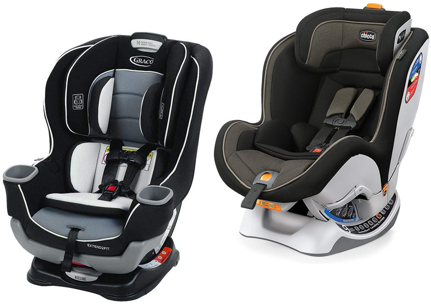 The Dimensions Of Each Model Installation System On Seat Features Graco Extend2Fit Vs Chicco NextFit